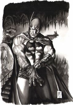 Batman Preps for War Comic Art