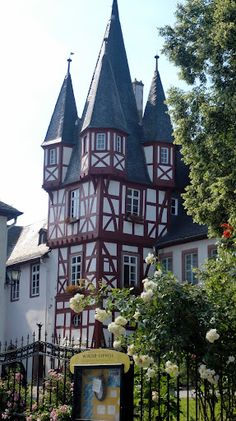 this is a small section of a former castle, now a museum for musical instruments that play on their own. Rudesheim, Germany