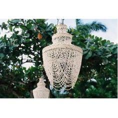 Seashell chandelier by hitchkitsch Seashell Chandelier, Pearl Chandelier, Chandeliers, Jazz Wedding, Wedding Reception, Seaside Wedding, Chic Wedding, Wedding Blog, Retro Wedding Dresses