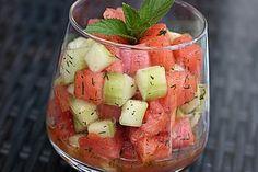 Sommerlicher Wassermelonen - Gurken - Salat