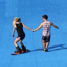 Can it be... LOVE at the SNOW PARK? Texas Ski Ranch snowboard park in New Braunfels, Texas. #snowboard #texasskiranch #firstdate