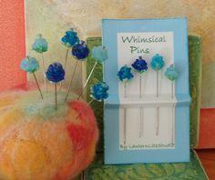 Decorative Pins  4 whimsical glass straight by lanternlitestudio, $4.50