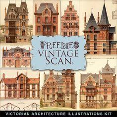 New Freebies Victorian Architectural Illustrations Kit II