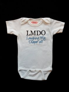 Baby Boy Clothes Funny Onesie Embroidered with  LMDO by LilMamas