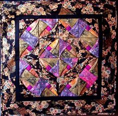 Chinese Puzzle. This pattern, taught in the Vancouver area, is made by Canadian quilter, Ingrid Machtemes. Dimensions: 68 x 68 cm. November 2006