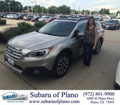 https://flic.kr/p/JfsYyL | Happy Anniversary to Lesley on your #Subaru #Outback from Trent Lofts at Subaru of Plano! | deliverymaxx.com/DealerReviews.aspx?DealerCode=K252