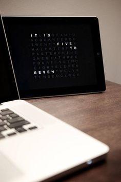 Kennt ihr das wenn ihr morgens aufsteht und topfit seid? Wir auch nicht. Vielleicht hilft die Zeit in zeitlosem Design: QLOCKTWO beschreibt die Zeit in Worten. Jetzt entdecken: http://www.sturbock.me/