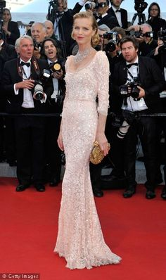 Eva Herzigova Cannes Film Festival in Dolce & Gabbana