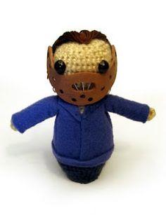 eeek!!! crochet Hannibal Lecter