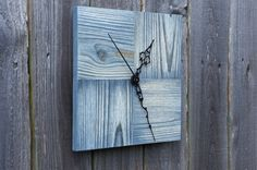 Reclaimed Wood Square Wall Clock. Handmade by MeAConcrete on Etsy