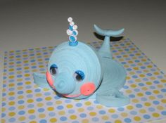 Quilling art. Cute little whale stand for the cup by QuillingLife