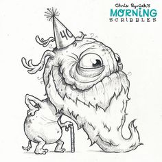 Today is my 40th birthday, I'm gonna eat cake and junk all day! #morningscribbles