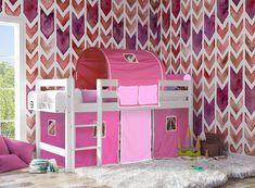 Παιδικό κρεβάτι SMART ΛΕΥΚΟ οξιά ΦΟΥΞ - ΡΟΖ
