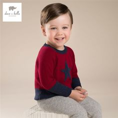 28.46$  Watch now - http://ali8fo.shopchina.info/1/go.php?t=32741450650 - DB3604 davebella red boys sweater children pullover kids sweater  #SHOPPING