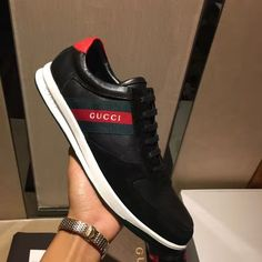 8998afa4e3f 2017 Spring New Arrival Gucci Men Sneakers Shoes Black for sale at cheap  discount price