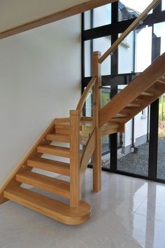 Contemporary / Modern – Farrell Joinery Ltd Stair Banister, Banisters, Bespoke Staircases, Modern Stairs, Modern Contemporary, Kitchen Design, Staircase Ideas, House Design, Joinery