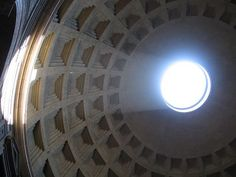 #Photo I took of light coming in through the hole in the ceiling of the Pantheon in #Rome, #Italy.