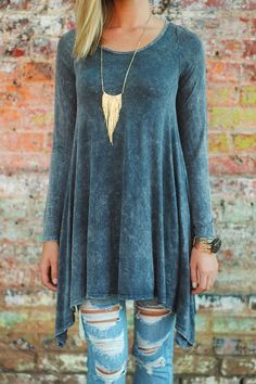 Girls of Fall Tunic in Gray