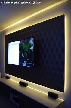 Oświetlenie led ściany TV.Lighting LED TV wall.
