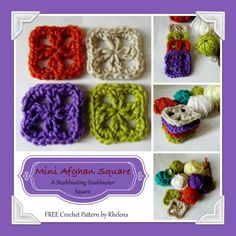 FREE crochet pattern for a Mini Afghan Square.