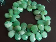 Finest Quality Chrysoprase Smooth Pear Briolettes - size 10-15mm Approx. 100% Natural | gemstonebeads - Jewelry Supplies