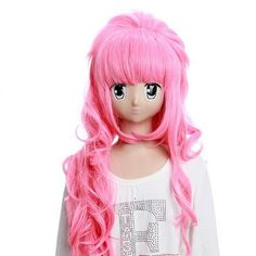 SureWells Cosplay WigsVocaloid Luka Long Pink Curly Wavy Cosplay Wigs Neat Bands Party Wigs Costume Wigs by SureWells, http://www.amazon.com/dp/B00A77FKE2/ref=cm_sw_r_pi_dp_2WNWrb0373WQA