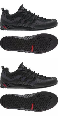 Adidas Outdoor Terrex Swift Solo Approach Shoe - Men's Black/Black/Lead 11