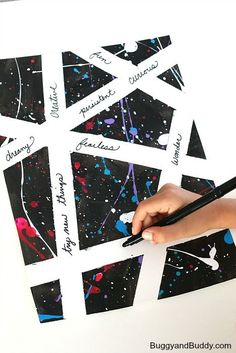 inspirational paint splatter canvas