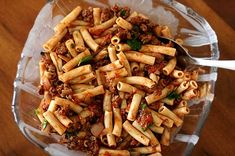 Penne Pasta with Meat Sauce Recipe | Simply Recipes