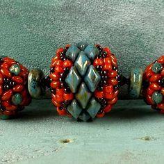 """""""Serengeti"""" beaded bead   Matubo"""