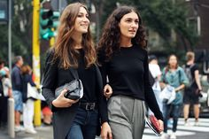 Giorgia and Giulia Tordini at MFW, September 2014. Pic by Nam.