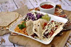 Brisket Tacos in the Crock Pot from @yourhomebasedmom...these look fabulous. Love a good crock pot meal. :)