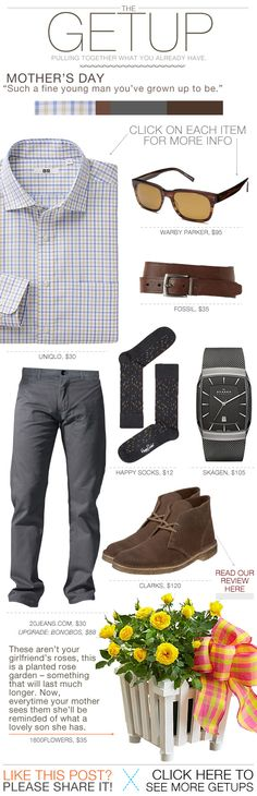 The Getup: Mother's Day - Primer More casual than me Mode Chic, Mode Style, Sharp Dressed Man, Well Dressed Men, Look Fashion, Mens Fashion, Fashion Tips, Mode Man, Casual Outfits