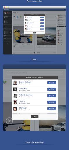 Facebook - Redesign of ui details by Grégoire Vella, via Behance