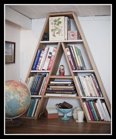 Bookshelf--With the letter of your name for your dorm room! AWESOME--you can custom build too