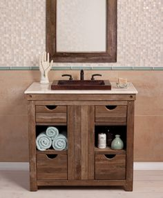 Copper Bath Sinks, Copper Tubs and Reclaimed Wood Vanities – Native Trails