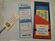 Thomas the Train Party Invitation by threechicksshoppe on Etsy