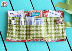 Stash one of these in your purse or diaper bag for those just-in-case times. Portable First-Aid Kit Sewing Tutorial via Positively Splendid