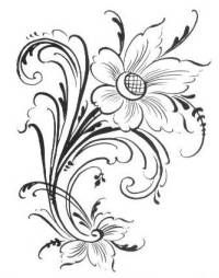 Embroidery pattern but it would make a cute tattoo!