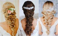 csodás haj fonatok - Google keresés Messy Braids, Hair Comb, Wedding Make Up, Curly Hair Styles, Manicure, Makeup, Hair Ideas, Google, Engagement