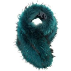 Charlotte Simone Emerald Fur Scarf Cuff (¥46,075) ❤ liked on Polyvore featuring accessories, scarves, fur, green, fur shawl, green scarves, green shawl and fur scarves