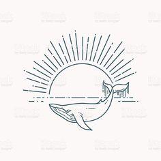 Illustration Ligne, Whale Illustration, Hip Tattoo Quotes, Whale Tattoos, Tatoo Henna, Whale Art, Alien Tattoo, Sexy Tattoos, Tattos