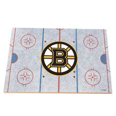 Boston Bruins Replica Hockey Rink Foam Puzzle Floor, Multicolor