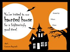Halloween Templates : Home & Garden Television - fill in the blank invite