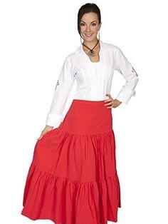 Scully Womens PSL077 Long Skirt Vermilion  M * Visit the image link more details.