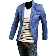 Partiss Herren Slim Blazers Einfarbig two Button Anzugjacke,Chinese L,Blue Partiss http://www.amazon.de/dp/B00ZOYR3DO/ref=cm_sw_r_pi_dp_uj.Fvb17VW0DF