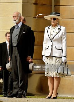 Britain's Prince Michael of Kent (L) and Princess Michael of Kent (R) arrive to attend a garden party at Buckingham Palace, central London on May 28, 2015. AFP PHOTO / POOL / JOHN STILLWELL (Photo credit should read JOHN STILLWELL/AFP/Getty Images)
