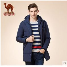 Cheap jacket pvc, Buy Quality jacket military directly from China jacket leather Suppliers: Camel Winter Men's Thick Long Jacket Blue Color Fit Hooded Coat 2015 New Fashion Casual Male Overcoat Jacket D5Z171508
