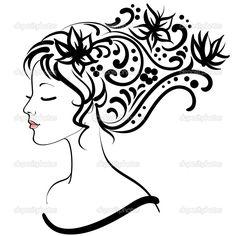 Весной цветочные девушки, векторные иллюстрации — Стоковая иллюстрация #5230079