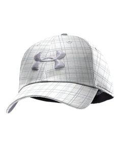 f0524975928 Under Armour Men s UA Dance Floor Plaid Golf Cap Combo Medium   Large White   UnderArmour  Sports